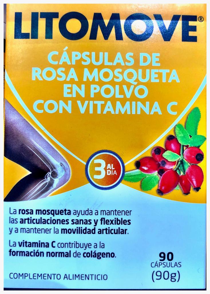 Beneficios de Litomove capsulas de rosa mosqueta Reduce el dolor articular, al nivel de los AINE antiinflamatorios y analgésicos no esteroideos Es una alternativa menos agresiva y permite reducir el consumo