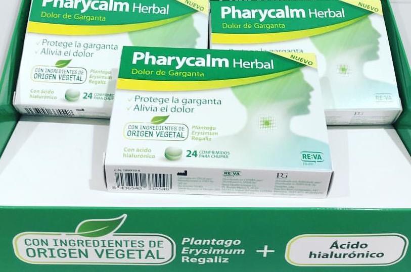 Mal de coll? Pharycalm herbal amb ingredients d'orígen vegetal actua protegint el coll i alleugerint el dolor