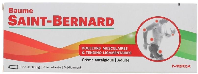 BAUME SAINT BERNARD Medicamento en forma de pomada a base de salicilato de amílo que contiene mentol. Indicado para el tratamiento local de dolores de origen muscular y tendoligamentosos del adulto