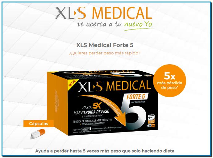 Combate los kg extra! XL-S MEDICAL FORTE 5 es un producto sanitario que te ayuda a perder hasta 5 veces más peso que solo haciendo dieta.