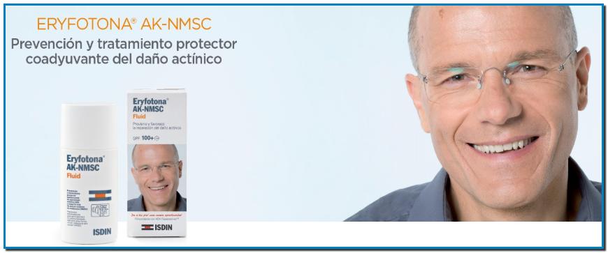 ISDIN Eryfotona AK-NMSC Fluid SPF 100+ prevención y tratamiento protector adyuvante de la queratosis actínica (AK) y otras formas de cáncer cutáneo no melanoma (NMSC).