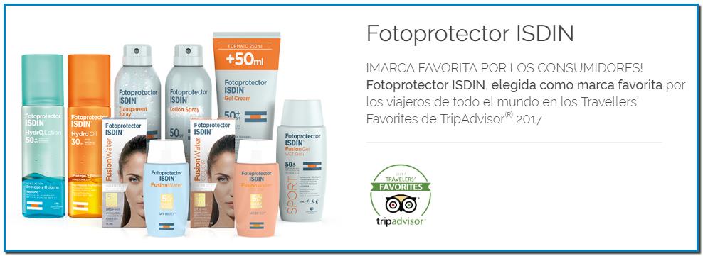 Fotoprotector ISDIN elegida como marca favorita por los viajeros de todo el mundo en los Travellers' Favorites de TripAdvisor®