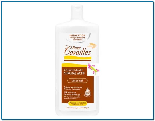 Roge Cavailles Gel Bain et Douche surgras actif est spécifiquement formulé pour nettoyer au quotidien les peaux délicates et sensibles de toute la famille.