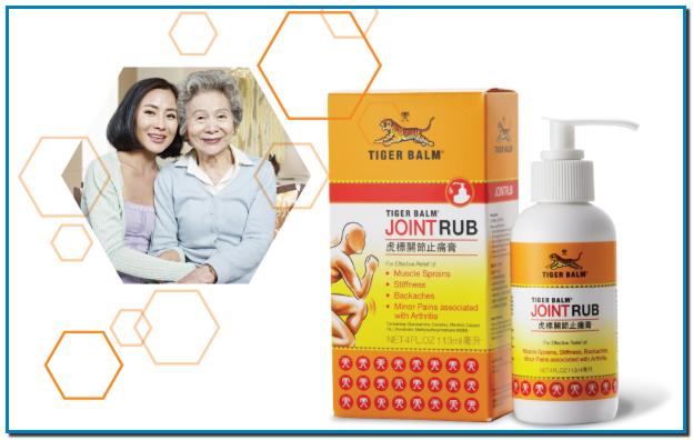 Especial para las articulaciones la eficacia de Tiger Balm en una formulación única desarrollada para el alivio del dolor de la artritis dirigida a los dolores y rigidez en las articulaciones