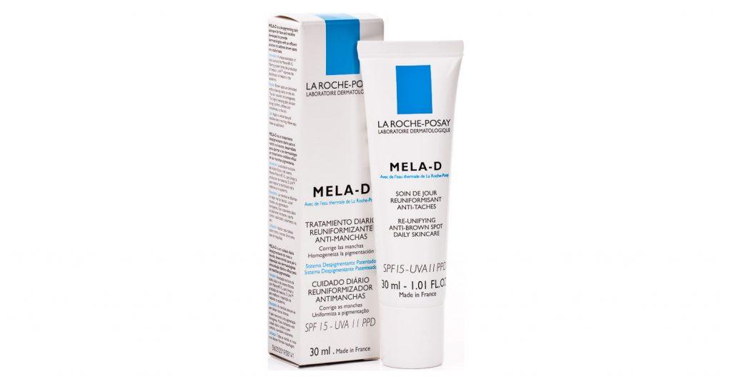 La Roche Posay Mela D Despigmentante 30ml. Primer tratamiento despigmentante de día, para todo el rostro. Su sistema filtrante con Mexoryl XL® (SPF 15-Índice UVA 11 PPD) frena la acción de las radiaciones ultravioleta, impidiendo la sobreactivación de los melanocitos: la intensidad de las manchas disminuye progresivamente. El LHA® (lipohidroxiácido) posee una acción microexfoliante que limita la transferencia de melanina a los queratinocitos y acelera la renovación de la piel: la pigmentación se vuelve más homogénea y regular
