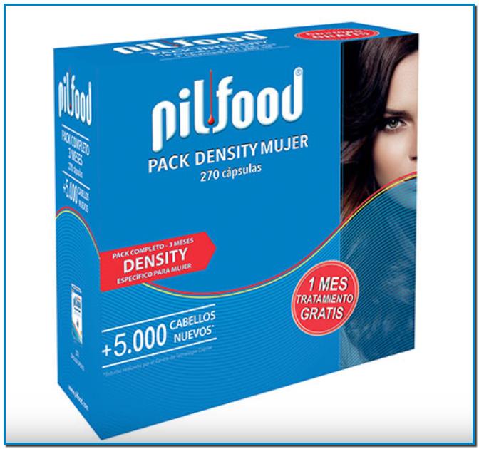 Comprar Pilfood® Density en Gran Farmacia Online Andorra 3 Meses Mujer Para la caída moderada del cabello. Pilfood® te aportará mejores resultados con un tratamiento continuado durante 3 meses.