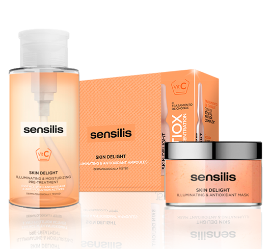 Comprar Skin Delight en Gran Farmacia Andorra el poder de las plantas y la vitamina C. Una línea de tratamientos anti edad especialmente formulada para eliminar los signos de fatiga y de estrés de la piel.