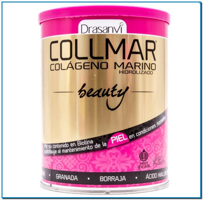 Comprar Colageno Collmar Beauty en Gran Farmacia Online Andorra contribuye al mantenimiento de la piel en condiciones normales por su contenido en Biotina