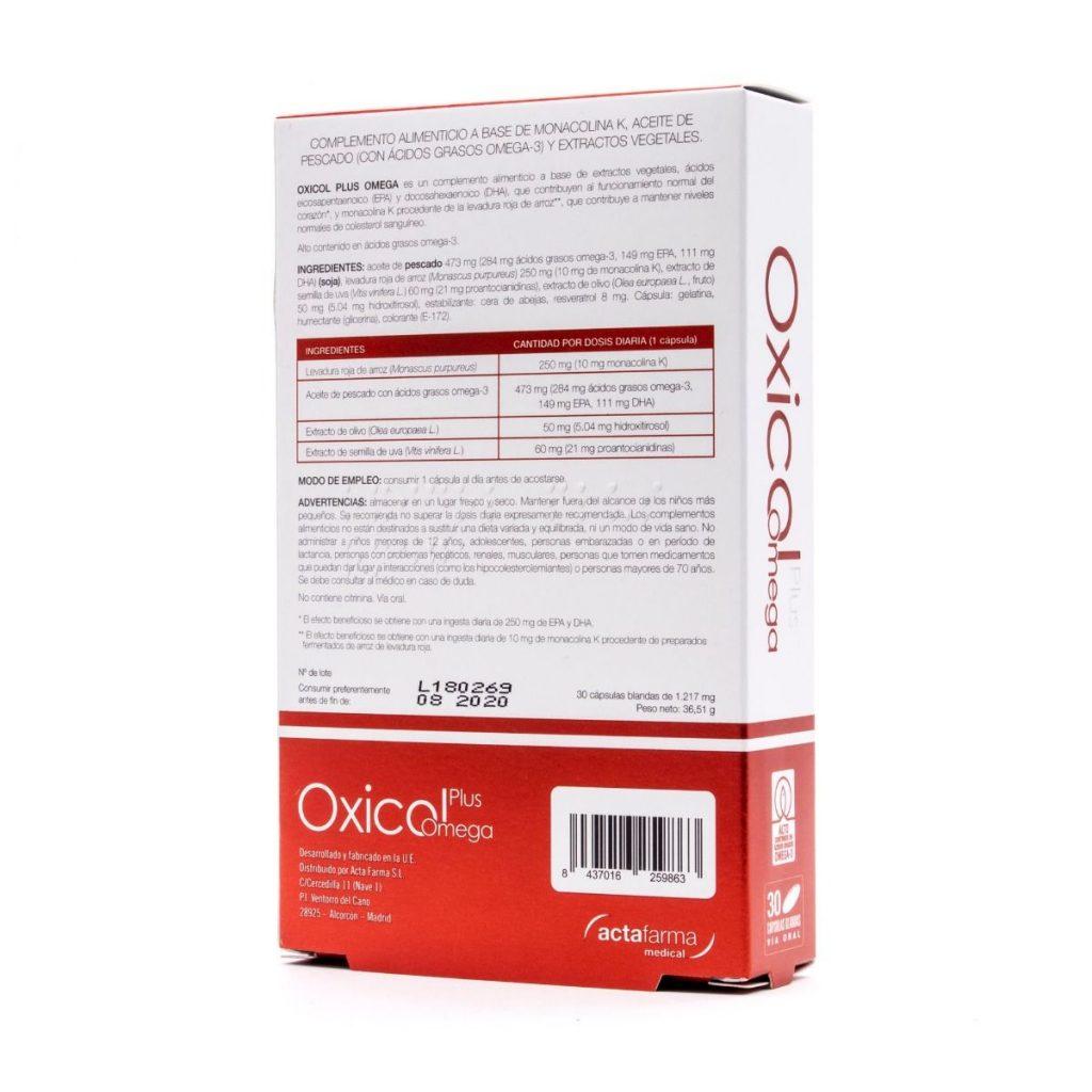 Oxicol Plus Omega reduce no solo el colesterol sino también los triglicéridos en sangre no produce reacciones adversas y es eficaz en 2 meses con sólo una cápsula al día