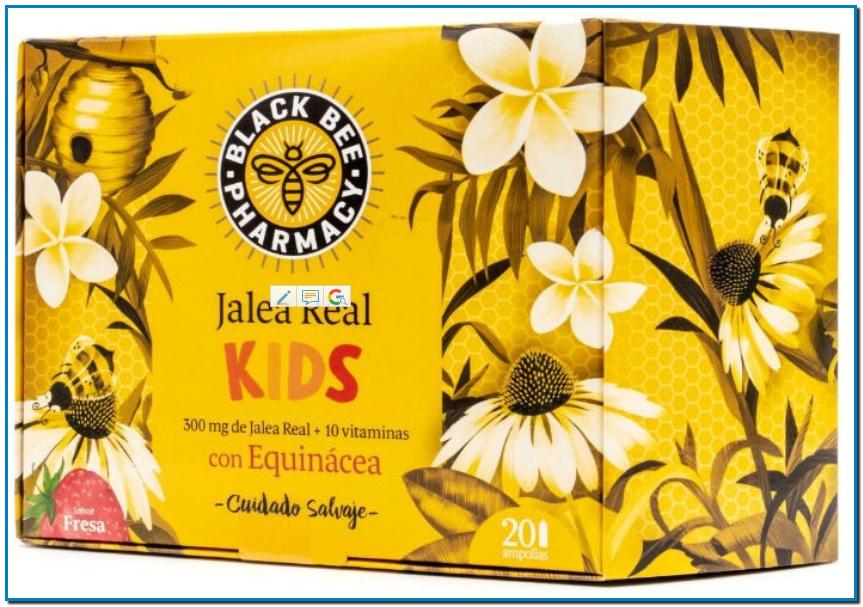 Black Bee Pharmacy Jalea Real Kids es un complemento alimenticio que contribuye al buen funcionamiento del sistema inmunitario de los niños, proporcionando las defensas necesarias para el día a día de los más pequeños de la casa.