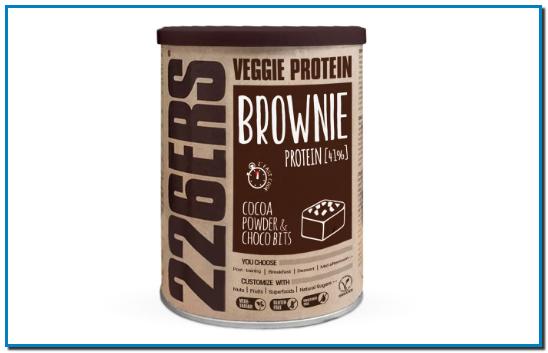Comprar VEGGIE PROTEIN BROWNIE en Gran Farmacia Andorra proteína de guisante, la harina de arroz y la harina de teff que proporciona fibra e hidratos de carbono de absorción lenta, con minerales y aminoácidos.