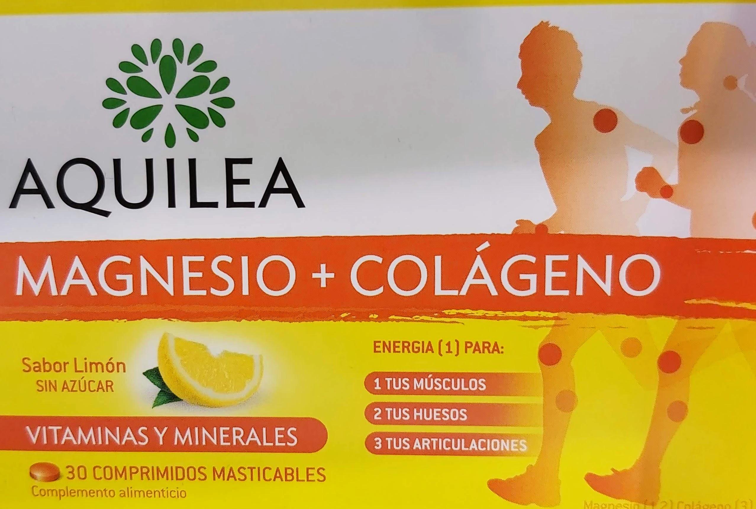 Comprar Aquilea Magnesio + Colágeno en Gran Farmacia Andorra energía masticable para tus músculos y articulaciones sabor limón