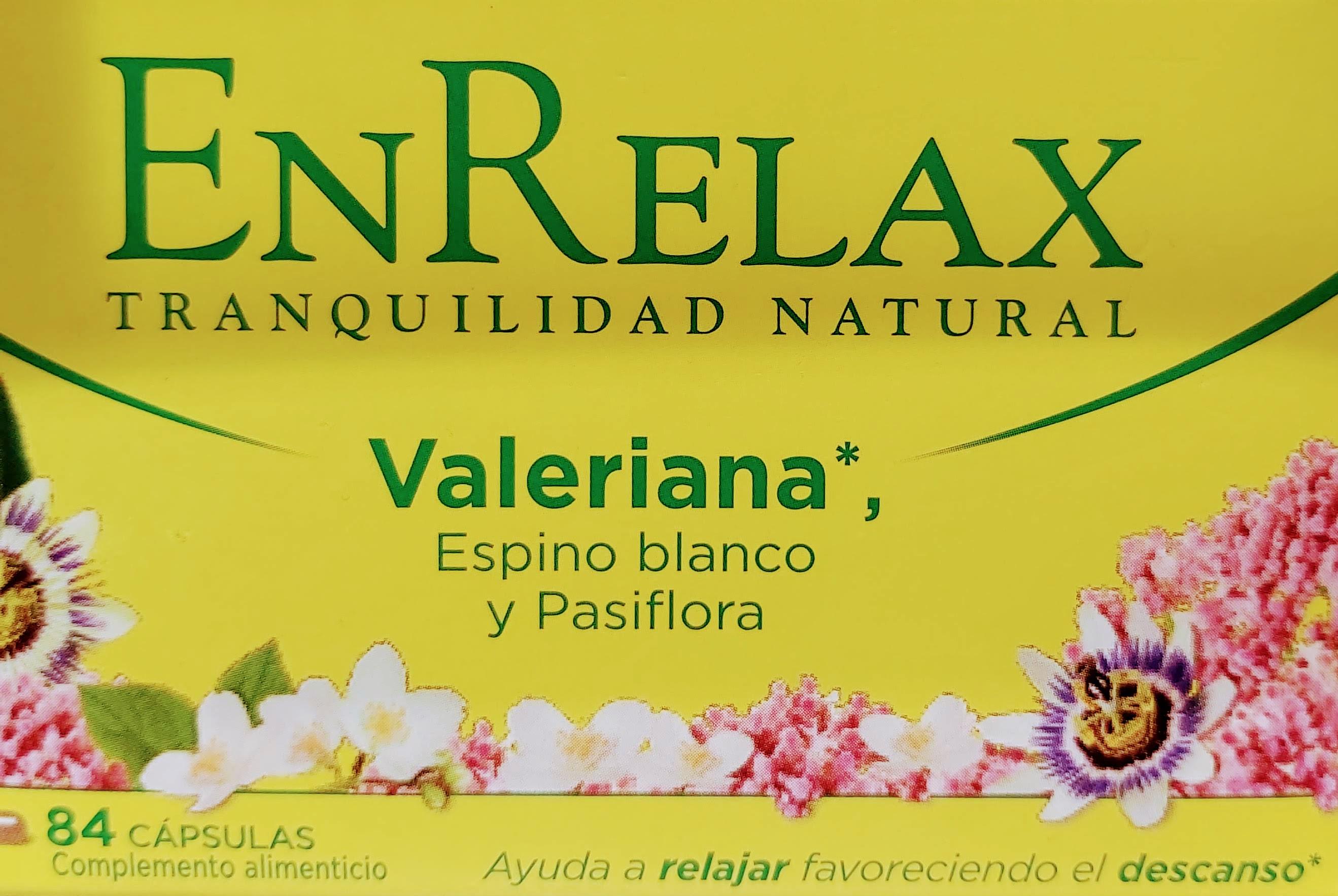 Comprar Enrelax Tranquilidad Natural con plantas sedantes para dormir y eliminar el estrés de forma natural con extractos de pasiflora, valeriana y espino blanco para paliar el insomnio y el nerviosismo