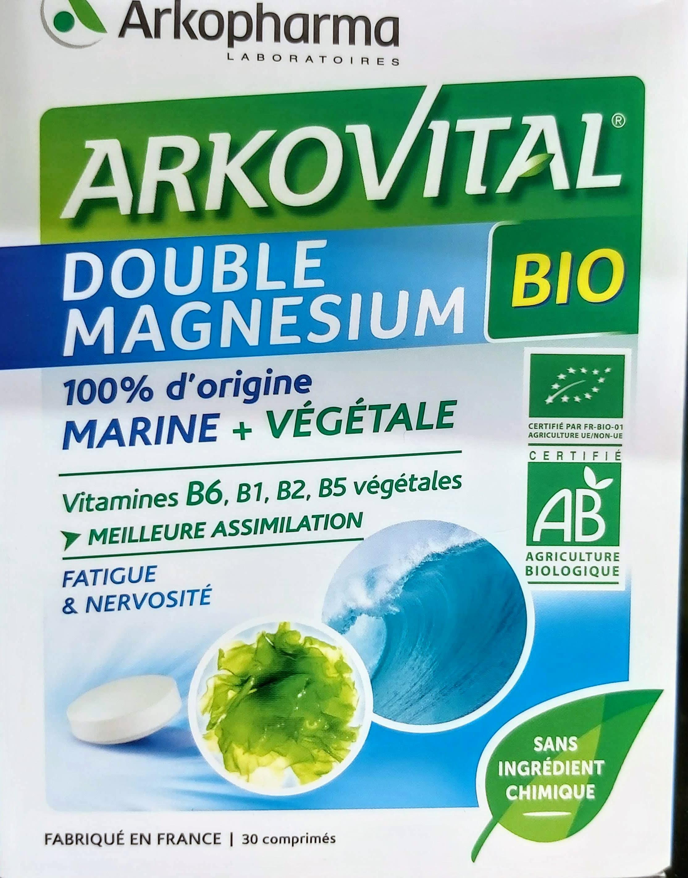 Arkovital® Doble Magnesio a base de lechuga de mar y de un concentrado de extractos vegetales. El Magnesio y la Vitamina B6ayudan a reducir el cansancio y la fatiga