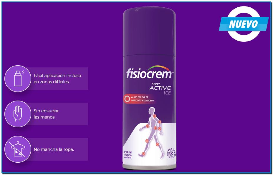 Fisiocrem Spray Active Ice es una solución efectiva indicada para aliviar el dolor de pequeñas dolencias proporcionando un efecto frío inmediato.