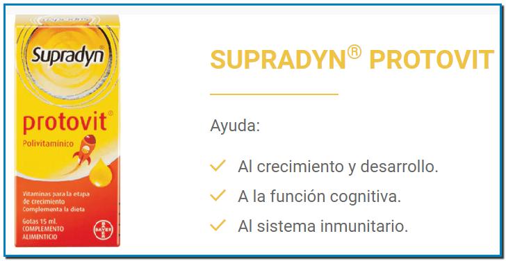 SUPRADYN® PROTOVITAl crecimiento y desarrollo. A la función cognitiva. Al sistema inmunitario.