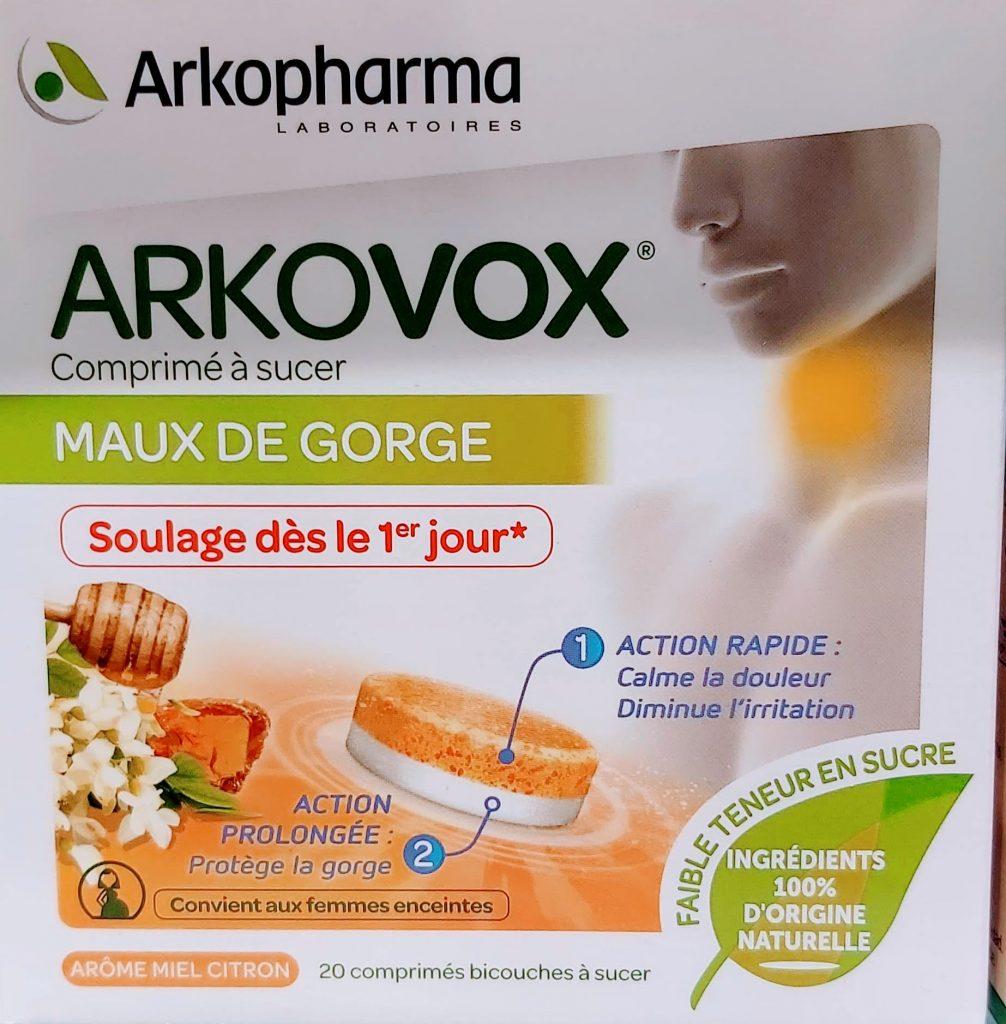 ARKOVOX DOLOR DE GARGANTA MENTA EUCALIPTO 20 COMPRIMIDOS El comprimido para chupar Arkovox es un producto especialmente formulado para ayudar a aliviar los dolores de garganta asociados a la faringitis