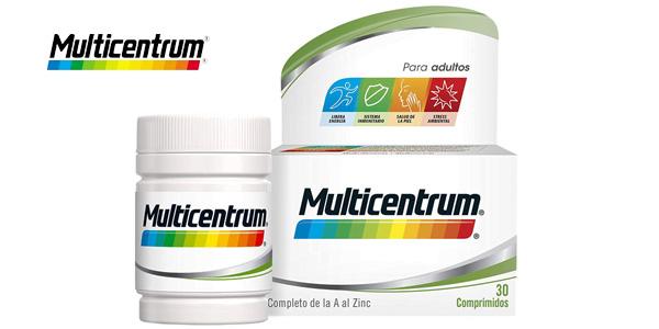 Multicentrum es un complemento alimenticio que contiene vitaminas, minerales y luteína, en una fórmula equilibrada