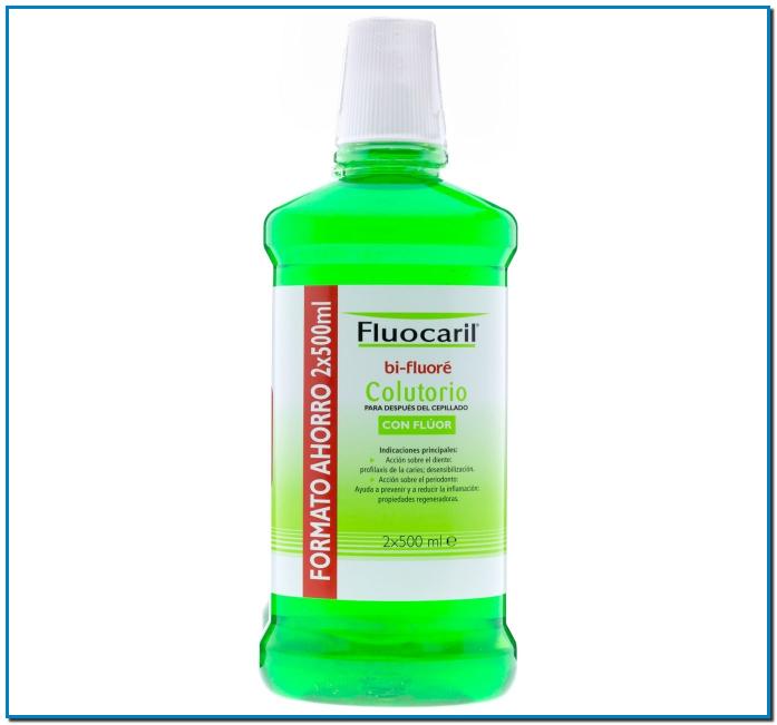 Colutorio Fluocaril Bi-Fluoré colutorio que combate el mal aliento y facilita la eliminación de la placa dental