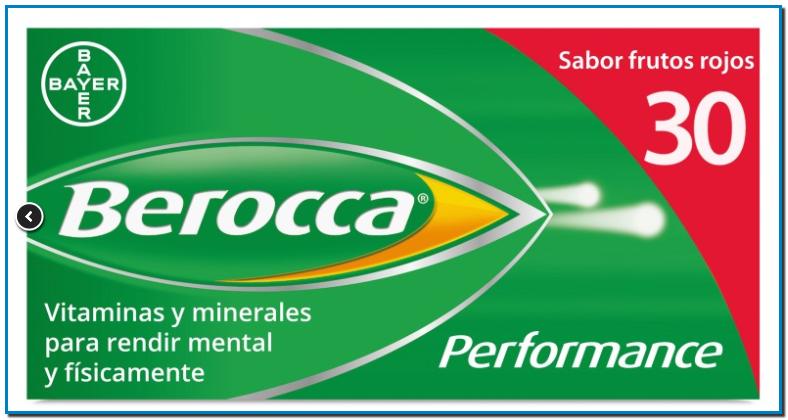 Complejo vitamínico de Bayer que ayuda al rendimiento tanto físico como mental presenta elevadas concentraciones de vitaminas del grup A y B.
