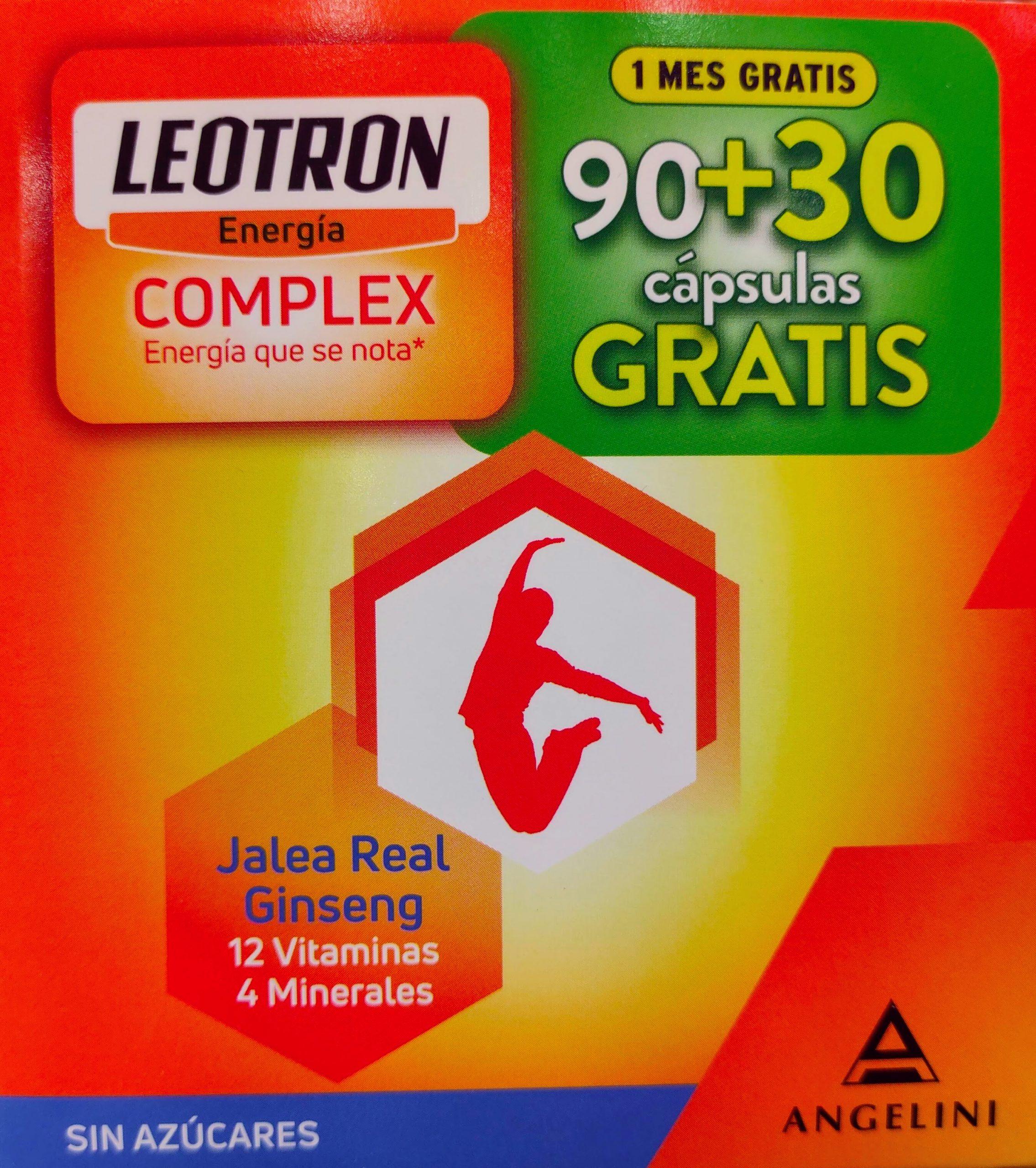Leotron Complex Jalea Real, Ginseng, 12 Vitaminas y 4 Minerales Un aporte extra de vitamina C y otros nutrientes que te llenan de energía y ayudan a disminuir el cansancio y la fatiga