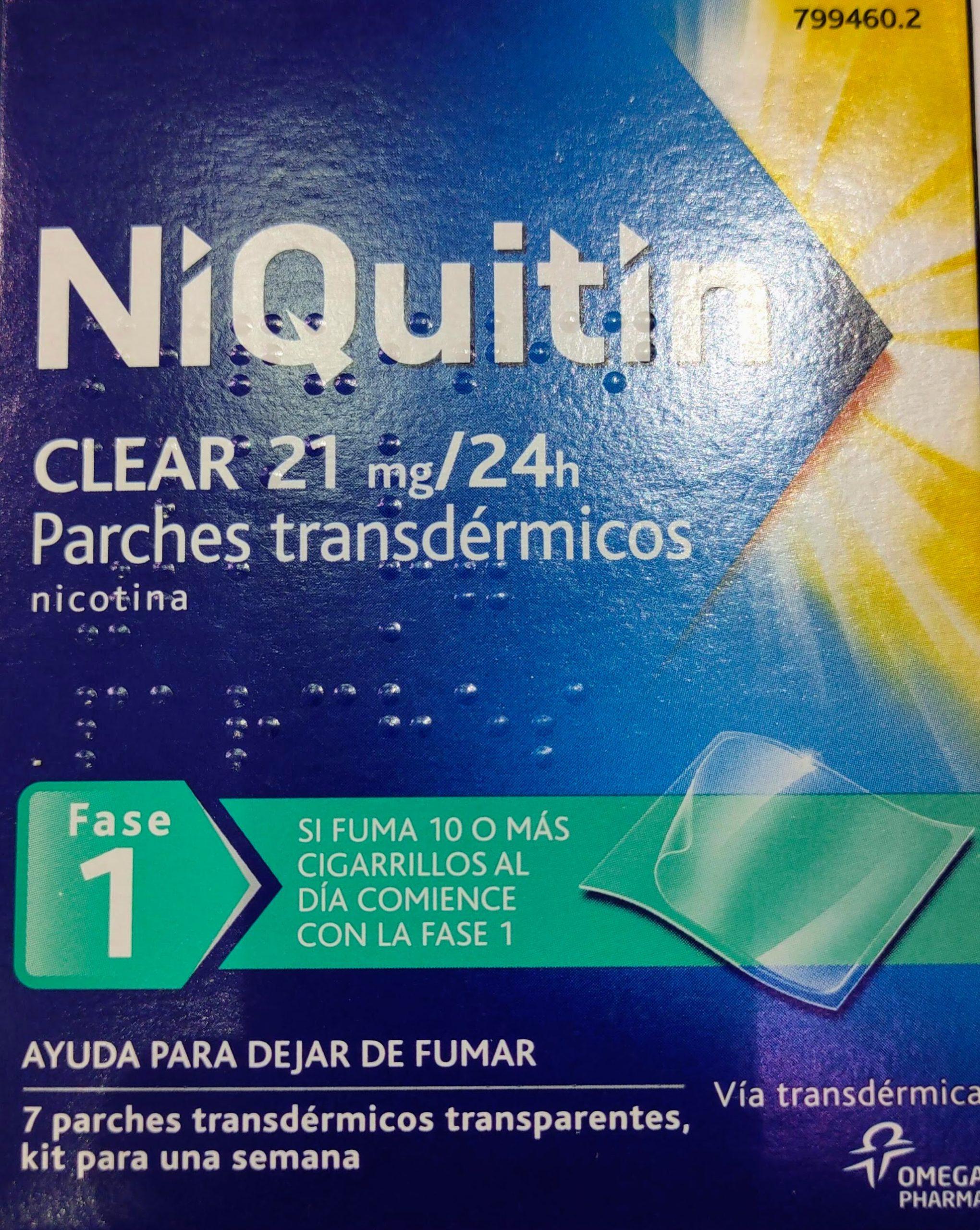 Deje de fumar con Niquitin clear Niquitin clear ayuda a dejar de fumar mediante la sustitución de parte de la nicotina que obtiene de los cigarrillos