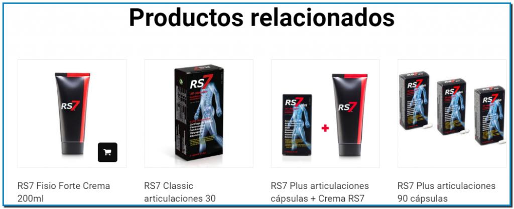 Comprar RS7 Crema Fisio Forte Sauce, Árnica, Romero, Mentol, Alcanfor, Caléndula, Capsicum, Harpagofito, Glucosamina, Ácido Hialurónico, Glycosaminoglycans.