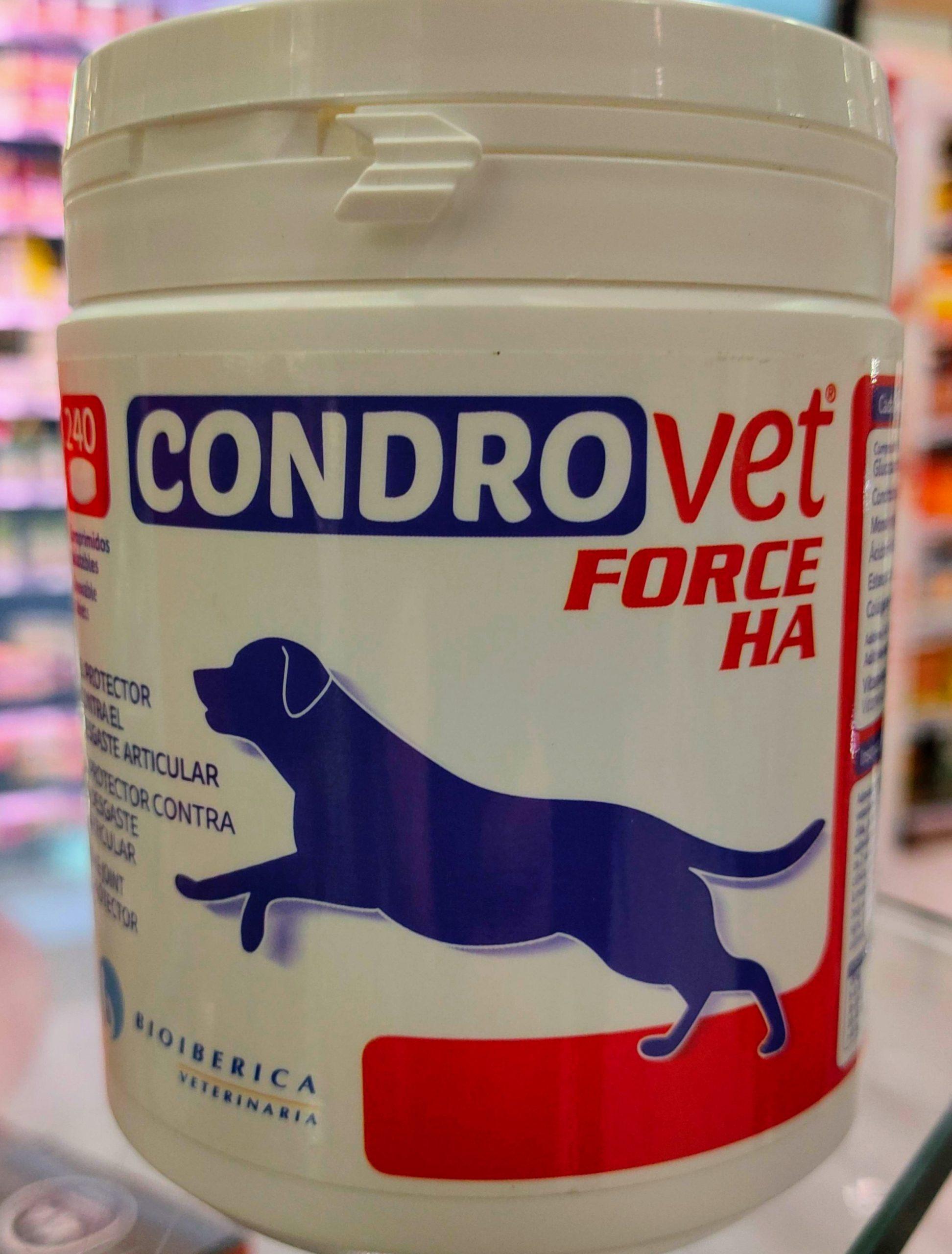 CONDROVET FORCE HAes un producto de uso veterinario especialmente recomendado para proteger las articulaciones de perros