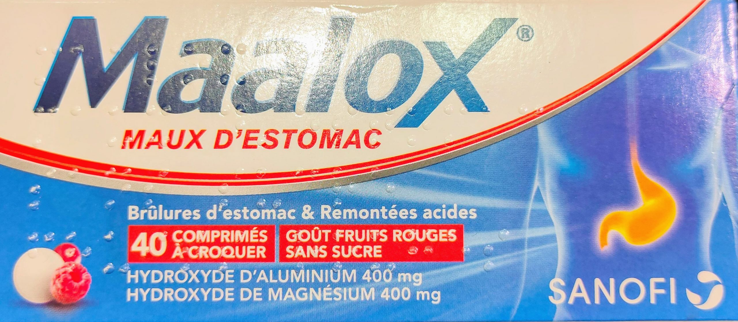 Maalox Maux de Stomach es un medicamento recomendado para acidez estomacal y reflujo ácido en adultos y niños de 15 años