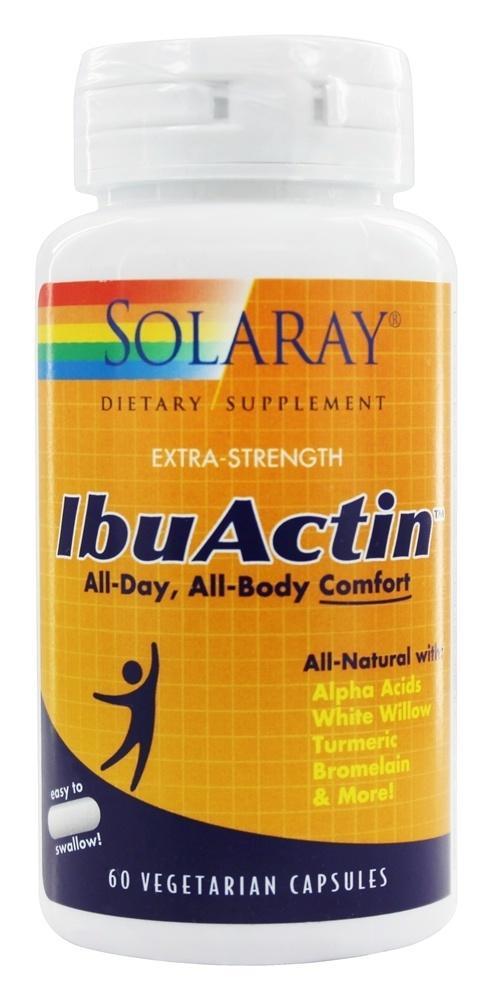 Super IbuActin de Solaray es un complemento nutricional formulado para ayuda a aliviar los procesos inflamatorios que causan dolor sustituto natural del Ibuprofeno