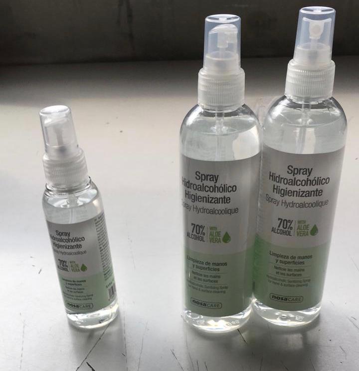 Compra Espray higienizante hidroalcohólico en Gran Farmacia Andorra Online para manos y objetos, que limpia de manera eficaz y desinfecta las manos sin necesidad de aclarado