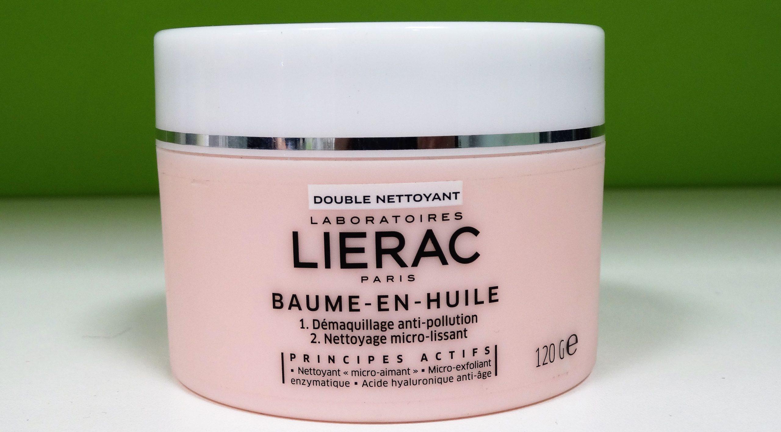 LIERAC Baume-en-huile Bálsamo en aceite Desmaquillante anticontaminación Limpieza microalisadora Con ácido hialurónico 120 g