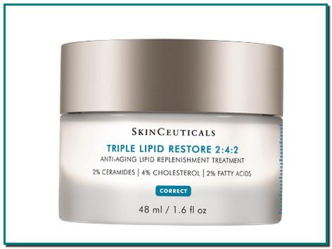 SkinCeuticals Triple Lipid Restore 2:4:2 es una crema antiedad formulada con una alta concentración de lípidos