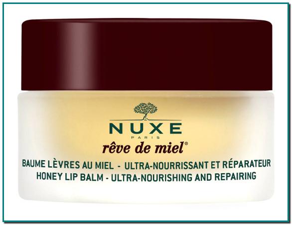 NUXE REVE DE MIEL Bálsamo labial top en ventas con miel y aceites preciosos tiene una alta concentración de ingredientes que ayudan a nutrir, reparar, suavizar y proteger incluso en los labios más secos y dañados.