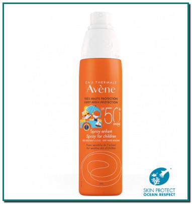 Avène Spray Infantil 50 + ofrece una protección solar a prueba de NIÑOS ¿Cómo funciona? Textura aceite en agua para que se extienda fácilmente. En contacto con la piel, la textura se invierte convirtiéndose en una textura barrera anti agresión.