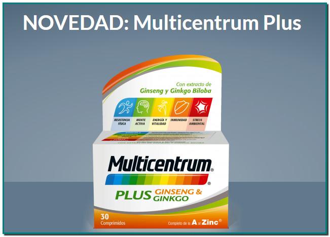 Multicentrum Plus Complemento alimenticiocon extractos de Ginseng, Ginkgo Biloba y alto contenido de vitaminas del grupo B