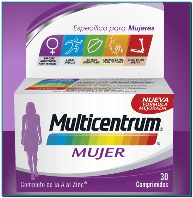 Multicentrum Mujer Complemento alimenticio con vitaminas y minerales para mujeres a partir de 18 años Fórmula específicamente equilibrada concantidades reforzadas de vitaminas y mineralesque ayudan a satisfacer las necesidades nutricionales de las mujeres