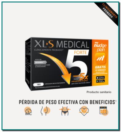 Comprar XL-S MEDICAL Forte 5 en Gran Farmacia Online Andorra Te ayuda a perder hasta 5 veces más peso que solo hacienda dieta1