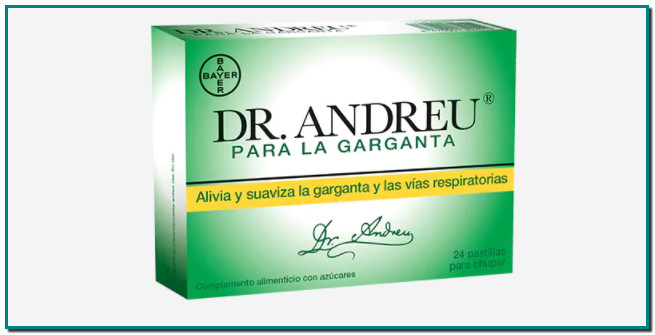 Dr. Andreu® para la garganta alivia y suaviza la garganta y las vías respiratorias