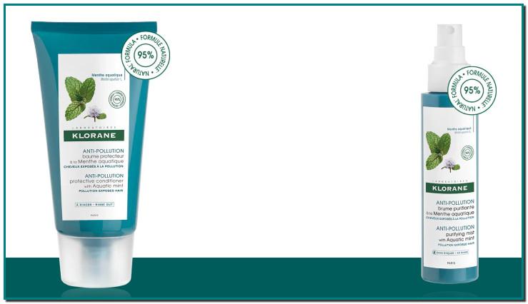 Klorane Ritual A la Menta Acuática Mentha aquatica L. ANTI-POLUCIÓN actividad antioxidante y anticontaminación en el cuero cabelludo