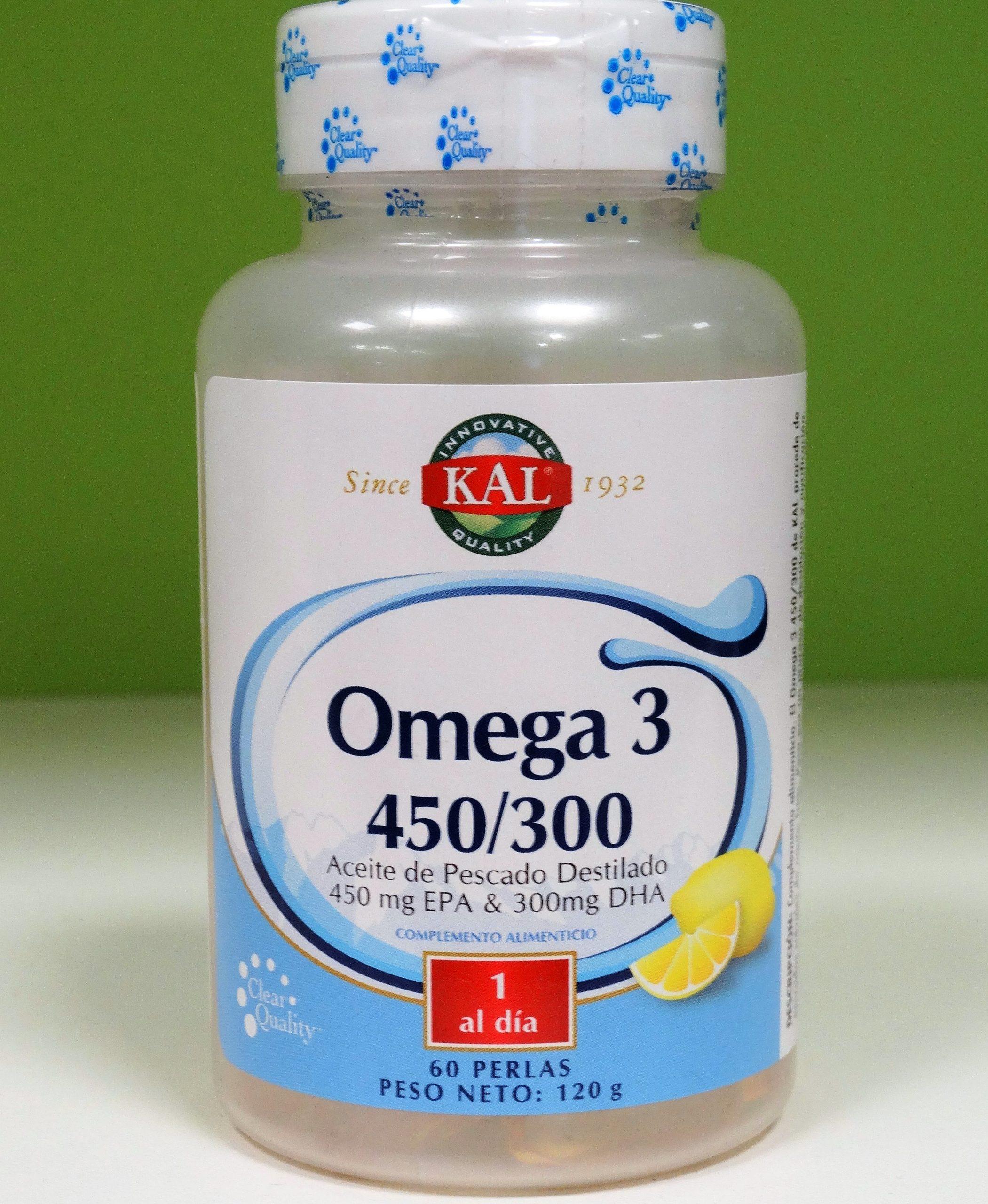 El omega 3 450/300 de Kal procede de pescados salvajes de aguas frías