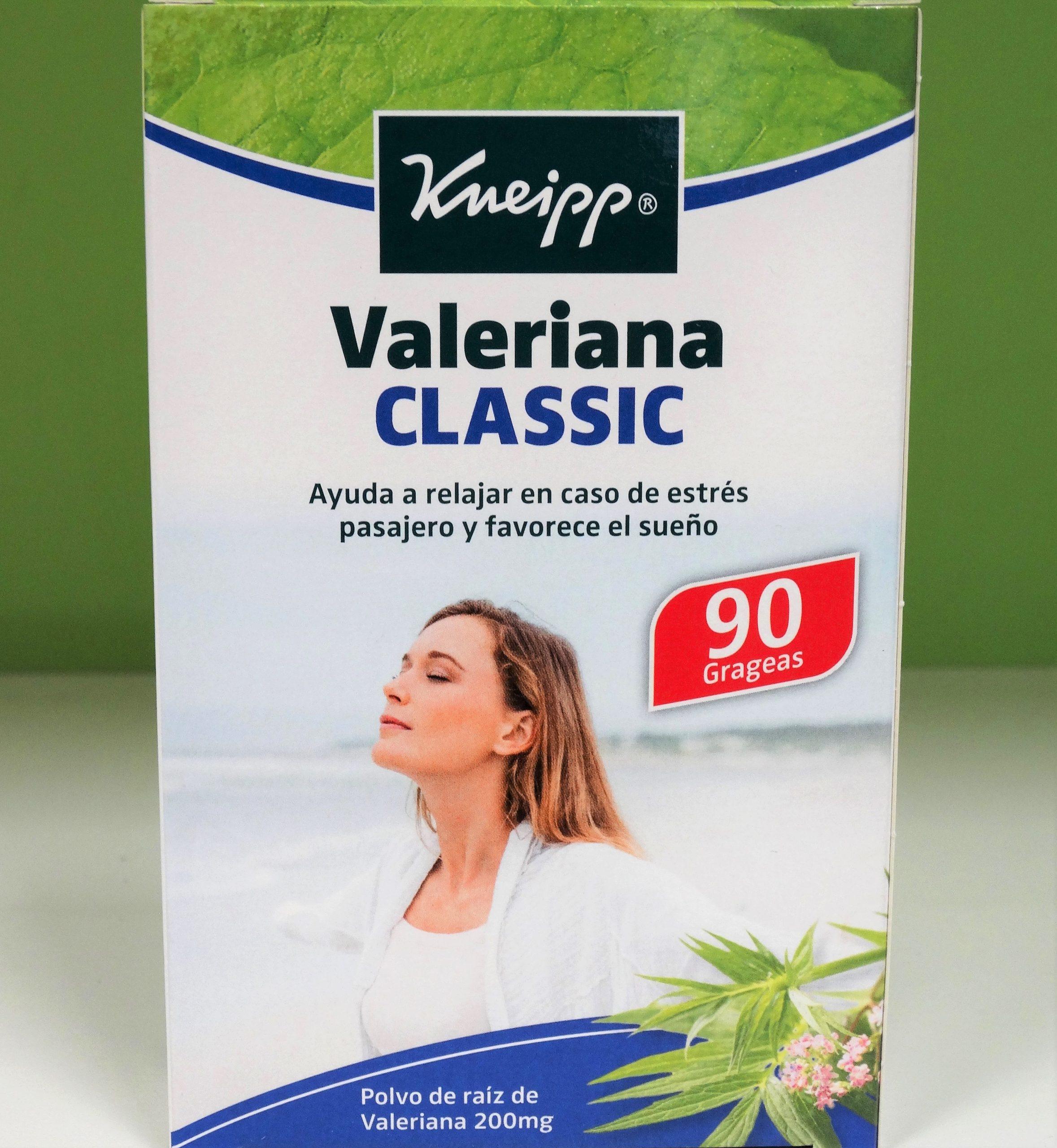 Kneipp Valeriana Classic 90 Grageasnerviosismo y el estrés