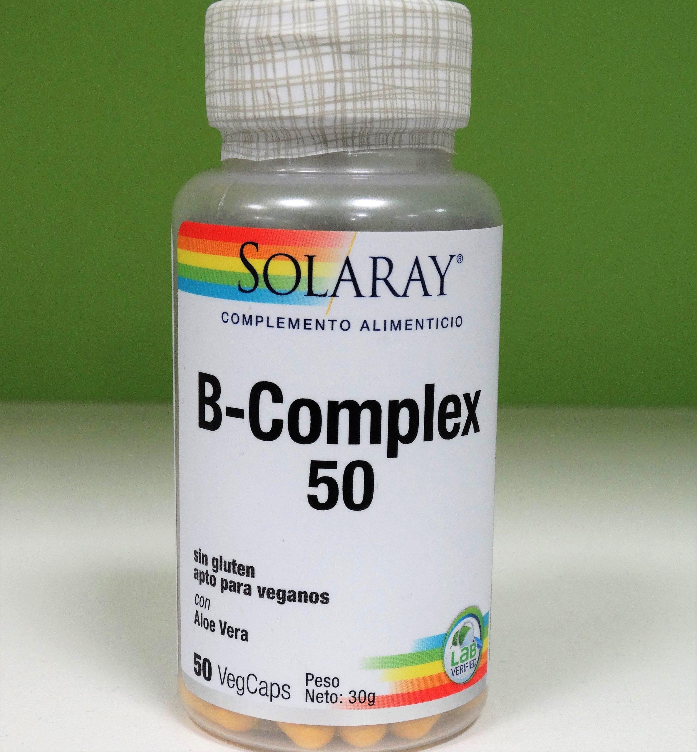 Comprar Solaray B-Complex 50 incluye todas las vitaminas B en Gran Farmacia Andorra Online