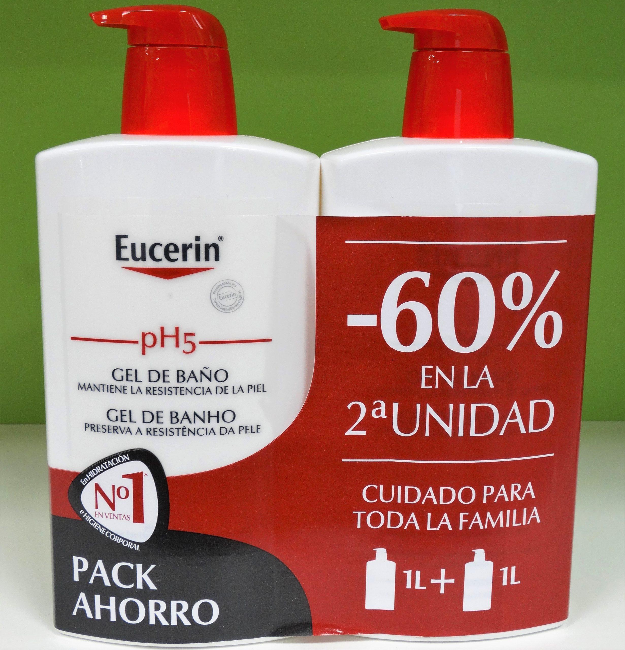 Eucerin pH5 Gel de baño Mantiene la resiliencia de la pielUn limpiador corporal suave que protege las defensas naturales de la piel y previene que se reseque.