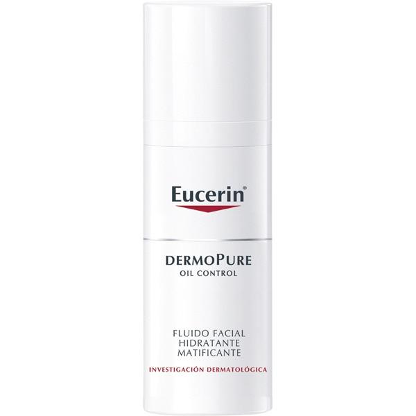 EUCERIN DermoPure Oil Control fluido facial hidratante matificante para la piel grasa bote 50 ml actúa en las impurezas y el exceso de grasa