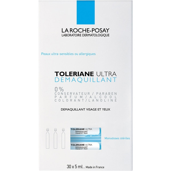 LA ROCHE POSAY Toleriane Ultra desmaquillador de ojos para ojos sensibles y usuarios de lentillas caja 30 dosis