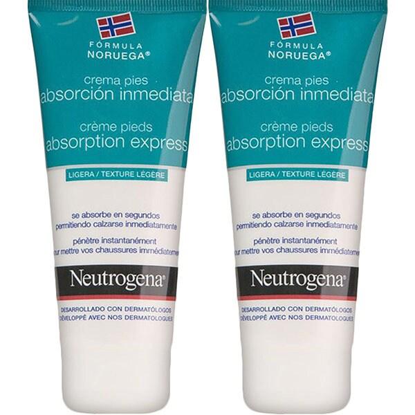 NEUTROGENA Crema para los pies de absorción inmediata duplo 100+100 ml