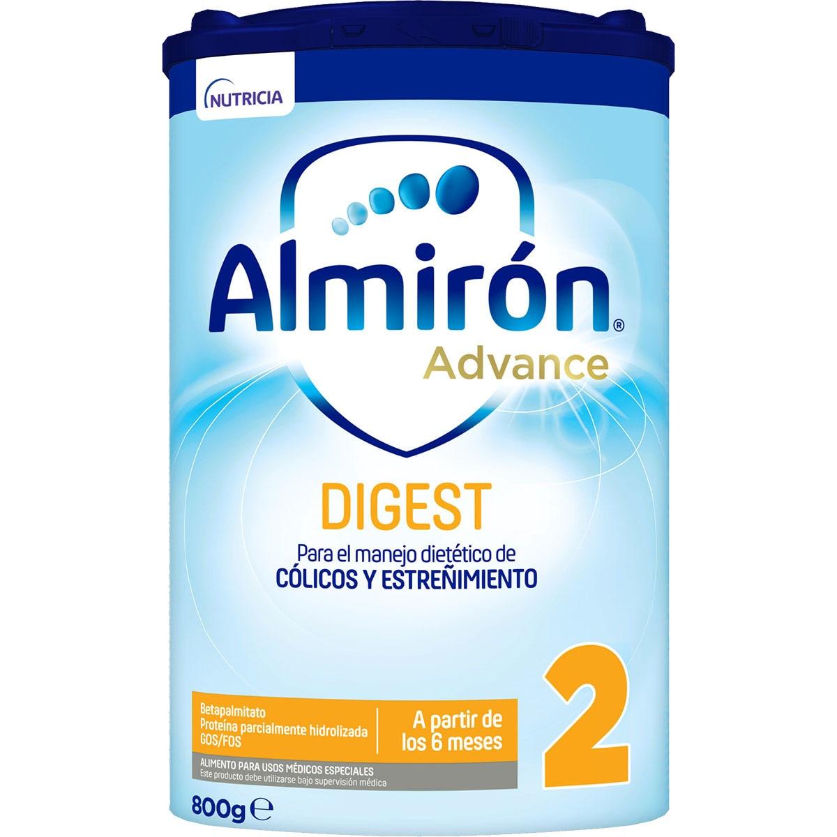 ALMIRON Advance Digest 2 leche de fórmula anti-cólico y anti-estreñimiento en polvo 800 g desde los 6 meses