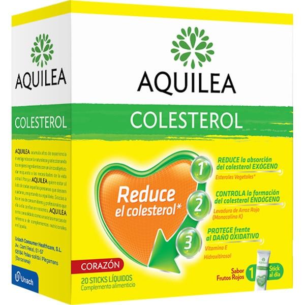 AQUILEA COLESTEROL, reduce el colesterol, gracias a su excepcional formulación, ya que actúa en sus 3 frentes. Contiene Esteroles Vegetales, que reducen la absorción del colesterol exógeno,