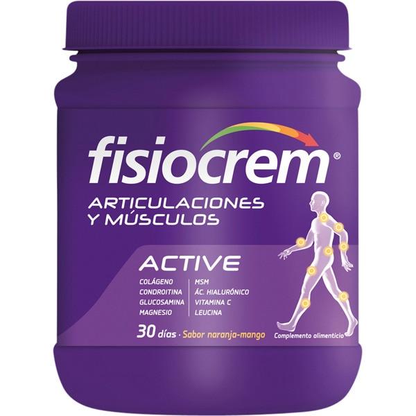 FISIOCREM ACTIVE Articulaciones y músculos cuida y protege el sistema musculo esquelético bote 540 g 30 días sabor naranja-mango